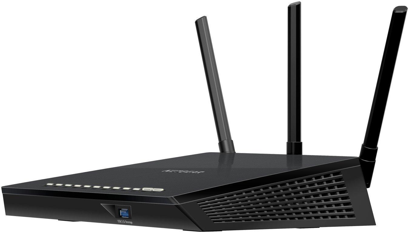 NETGEAR Nighthawk AC1750 Smart Wi-Fi Dual Band Gigabit Router (R6400-100CNS)