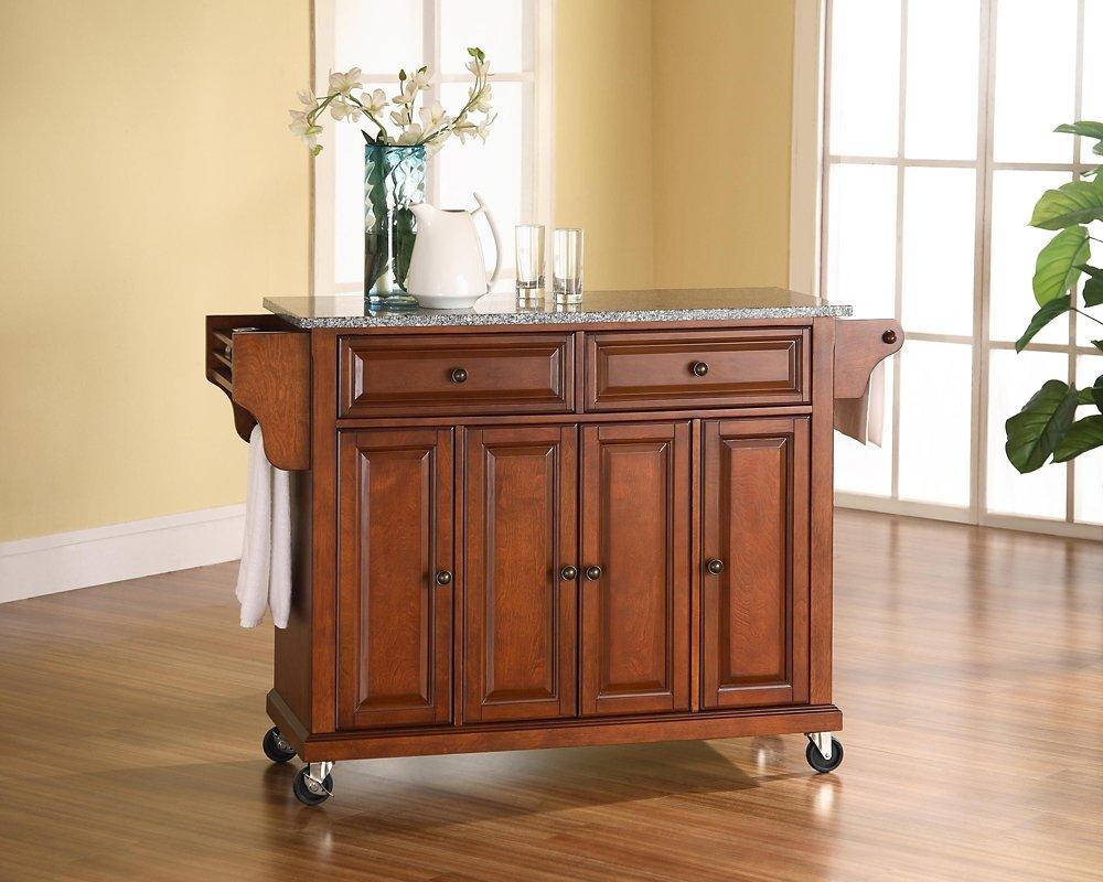 amazon com kitchen cart island solid granite classic cherry amazon com kitchen cart island solid granite classic cherry kitchen dining