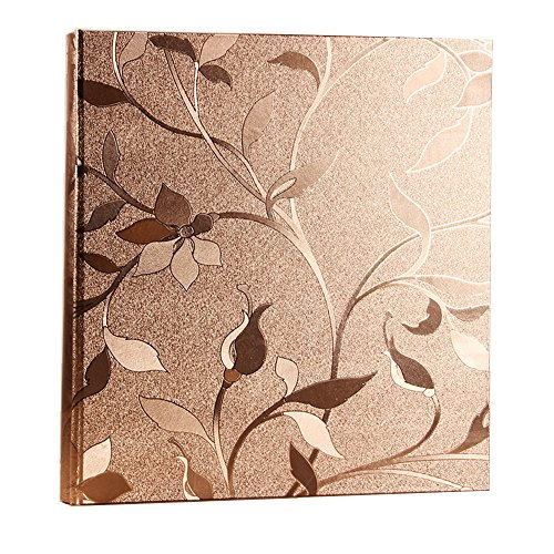 (Xerhnan Leather Cover Photo Album 600 Pockets Hold 4x6 Photos.(Champagne gold))