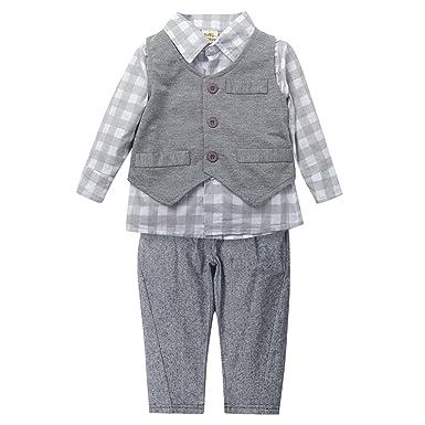 funbase recién nacido bebé Niños chaleco pantalones camisas traje ...