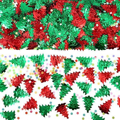 Pangda 60 g Christmas Tree Confetti Embossed Confetti Christmas Confetti, 4 Bags