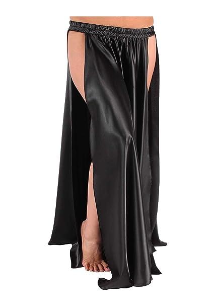 "e8f308b0a0 Indian Trendy 36"" Long Satin Panel Skirt Belly Dance Tribal Swing  Gypsy 2 Side Slit"