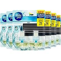 Ambi Pur Premium Clip Aqua Car Air Freshener Refill, 12 Pack