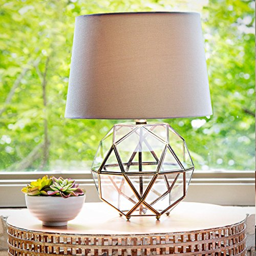 Industrial Metal and Glass 16.5-inch High Orb Table Lamp by Abbyson Living