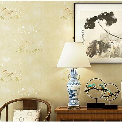WINMELE Papier Peint de Style Chinois à l\'encre de Paysage ...