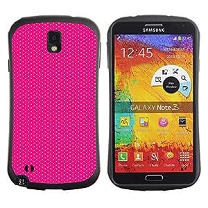 Fuerte Suave TPU GEL Caso Carcasa de Protección Funda para Samsung Note 3 N9000 N9002 N9005 / Business Style Dot Fine Pattern Pink Fuchsia Dots