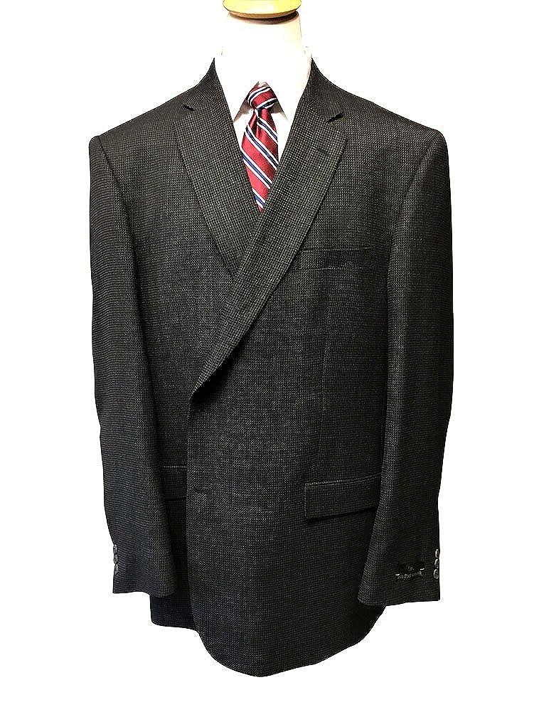 Big and Tall Blue Grey Micro Check 100% Wool Sport Jacket