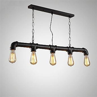 Pipa de agua Steampunk Vintage luces colgantes para comedor Bar ...