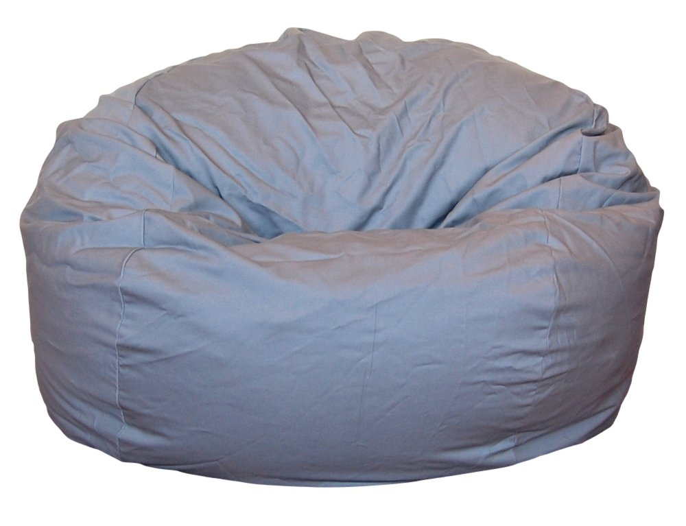 Ahh! Products Cotton Washable Bean Bag, Light Gray, Large