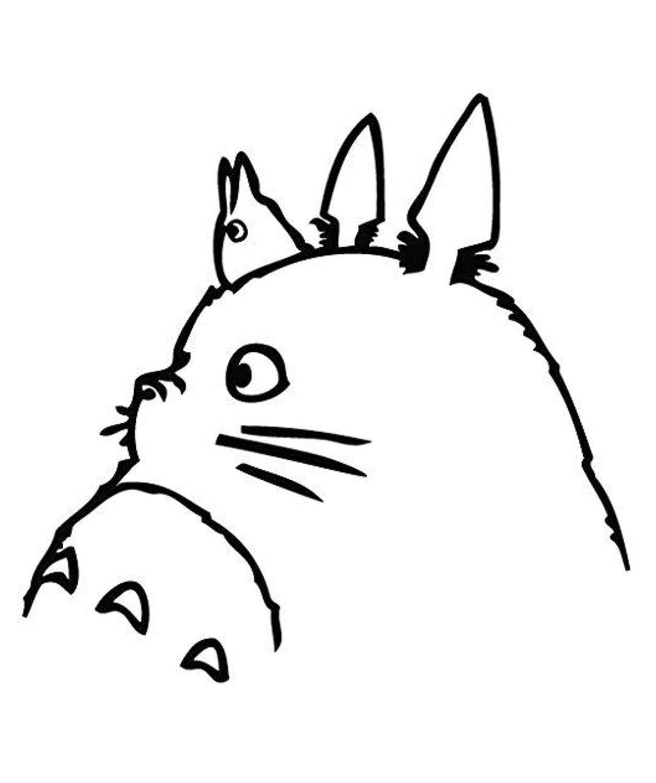 Autocollant de Totoro en vinyle pour fenê tre ou ordinateur portable - Noir - Pro Cut Graphics