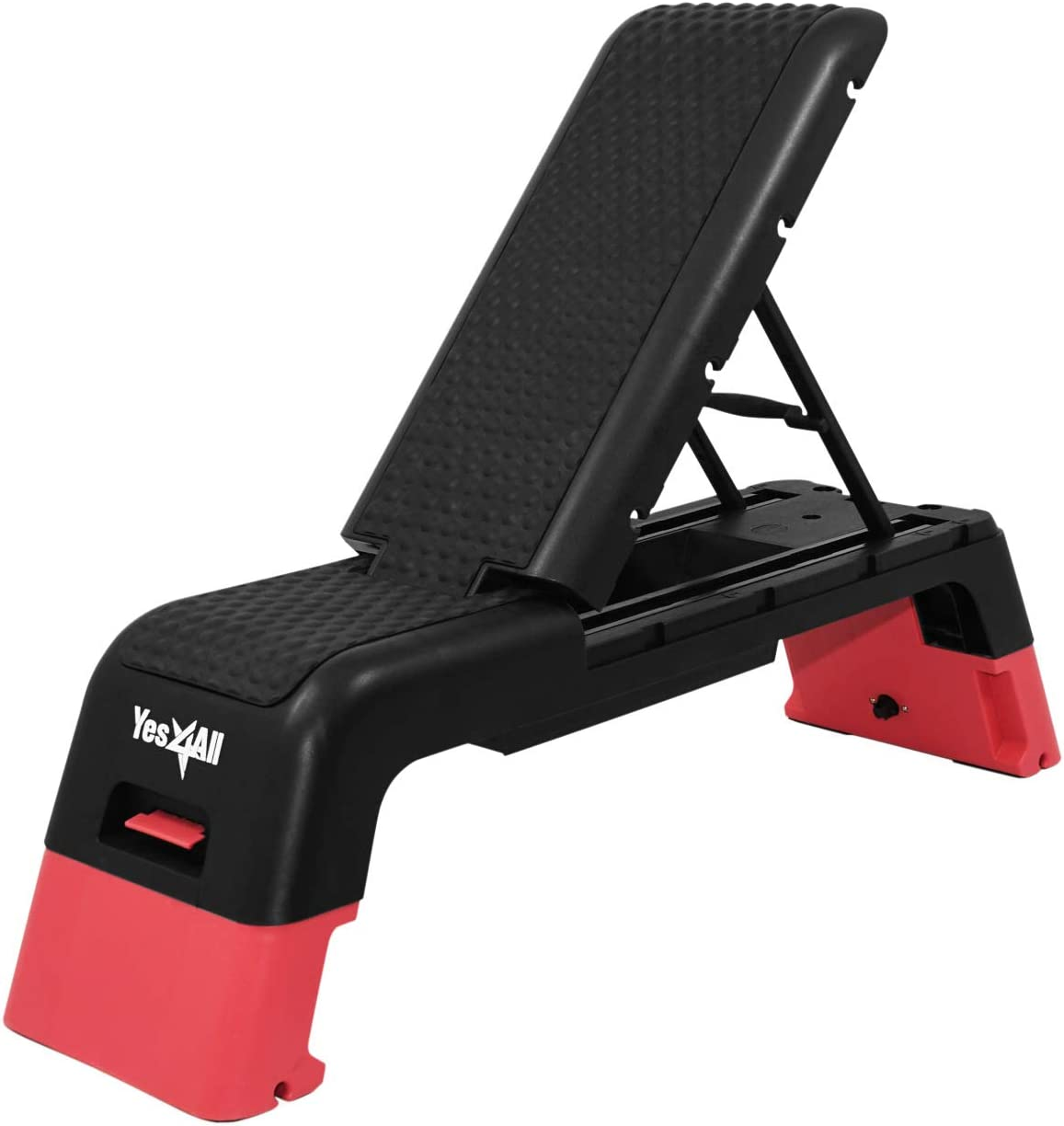 Amazon Com Yes4all Multifunctional Fitness Aerobic Step Platform Aerobic Deck Household Step Workout Bench For Home Gym Red Black Sports Outdoors