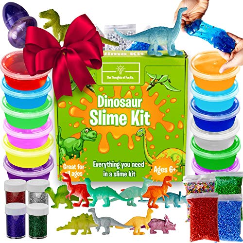 Dinosaur-Slime-Kit-for-Boys-Stretchiest-Slime-Kit-Easy-to-Clean-Fun-Slime-for-Kids-12-Colors-Dinosaur-Toys-Everything-in-ONE-for-Ultimate-Premade-DIY-Foamy-Stretchy-Slime-38pc