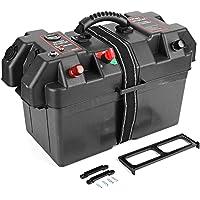 Akozon Accesorios de la caja de batería Plástico Minnkota Motor de arrastre Estación central eléctrica Puerto de cargador USB 12V