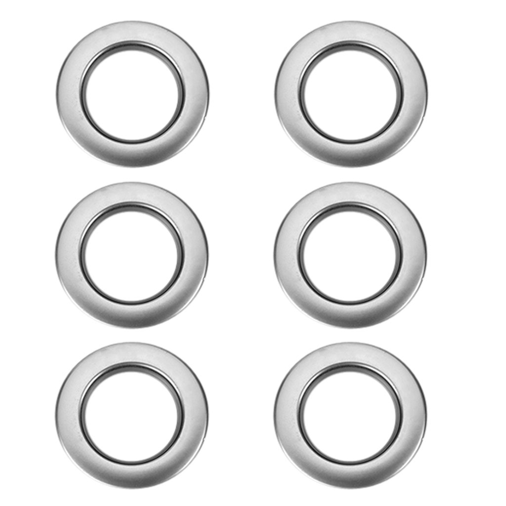 6pcs Round Plastic Curtain Eyelet Rings Silvery Generic Others