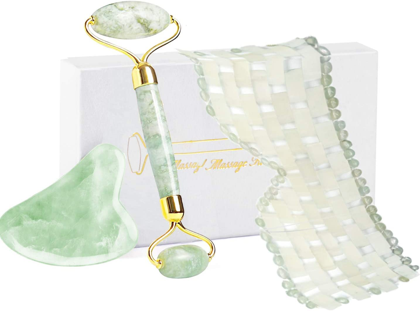 Jade Face Roller and Gua Sha Jade Face Roller Eye and Face Skin Care Tool WAS £16.99 NOW £11.30 w/code YRJ84W3F @ Amazon