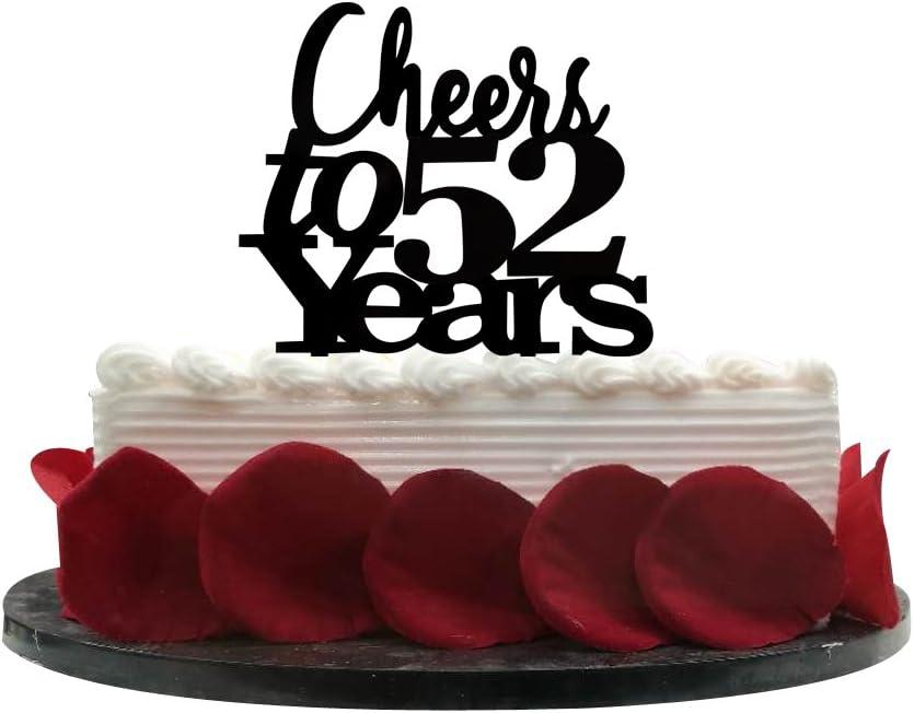 Amazon Com Cheers To 52 Years Cake Topper 52nd Birthday