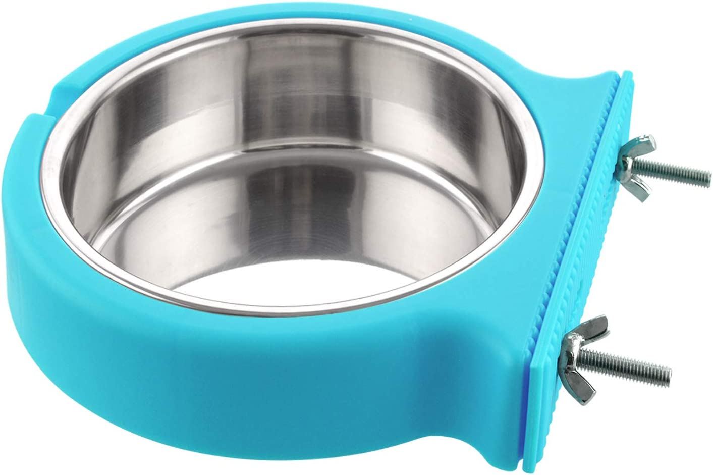 Guardians Crate Dog Bowl, Removable Stainless Steel Water Food Feeder Bowls Cage Coop Cup for Cat Puppy Bird Pets