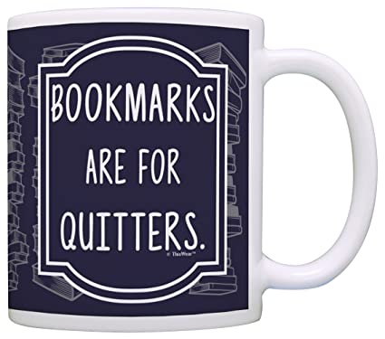 amazon com librarian gifts bookmarks are for quitters funny gifts