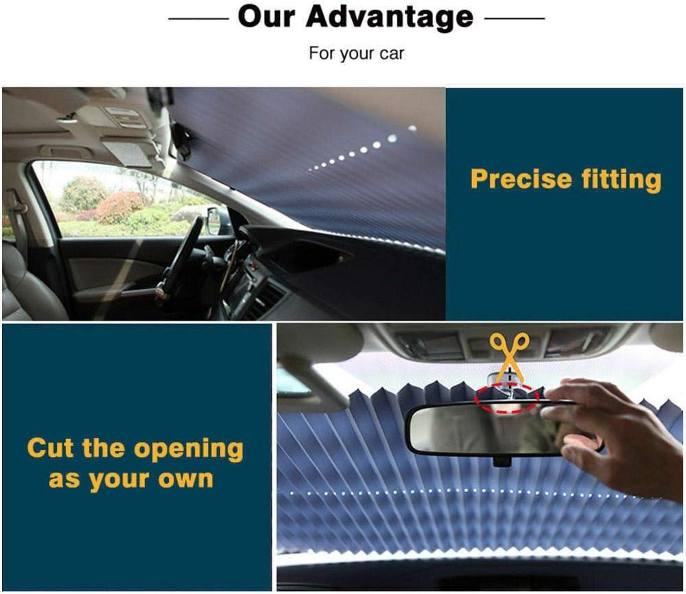 Mioloe Parabrezza Auto Retrattile Parasole Parasole Anteriore Auto paraurti Posteriore Parasole Tende Parasole Tende da Sole Anti UV per Auto SUV a grandezza Naturale