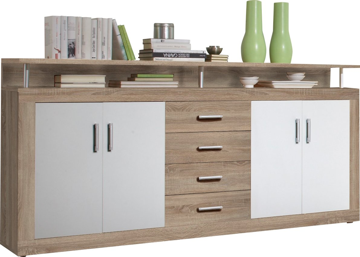 Perfect BEGA 88 903 66 Juno Sideboard Oak Sonoma Decor WxHxD Approx.195 X 97 X 37  Cm White: Amazon.co.uk: Kitchen U0026 Home Amazing Pictures