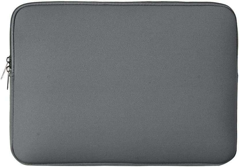 "RAINYEAR 14 Inch Laptop Sleeve Case Protective Soft Padded Zipper Cover Carrying Computer Bag Compatible with 14"" Notebook Chromebook Tablet Ultrabook (Gray)"
