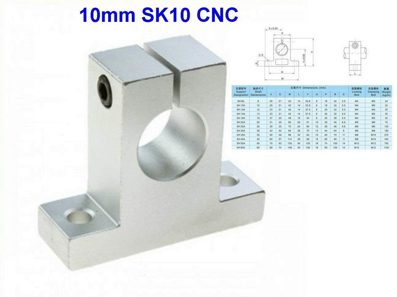 1 X Soporte para guías lineales 10mm Sk10 CNC Bearing Cutter 3D ...