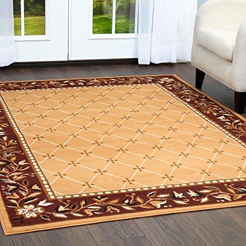 Home Dynamix Sand - Home Dynamix 7015-101 Premium Aydin Traditional Area Rug, 5x7, Sand
