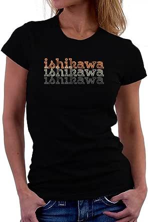 Teeburon Ishikawa Repeat Retro Women T-Shirt