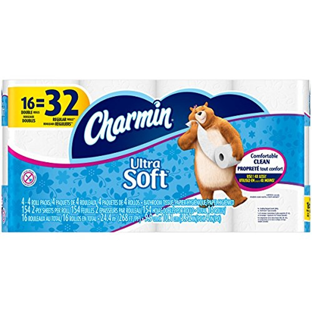 Amazon.com: Charmin Ultra Soft Bathroom Tissue, 16 Count (Double Roll 142ct - 16 Rolls): Health & Personal Care