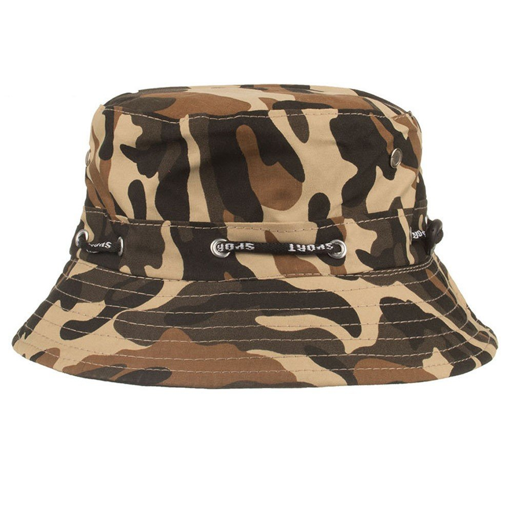 Quaanti Fisherman Hats for Women Men丨Adjustable Cap Camouflage Boonie Hats Nepalese Cap Army Fisherman Sun Protection Hat丨for Fishing,Hiking,Camping,Boating & Outdoor Adventures.Breathable (Coffee)