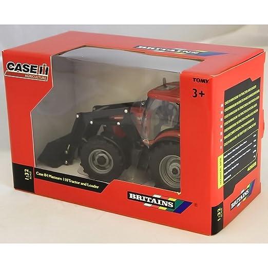 Britains - Tractor con pala Case IH Maxxum 110, color rojo y negro (TOMY 42688): Amazon.es: Juguetes y juegos