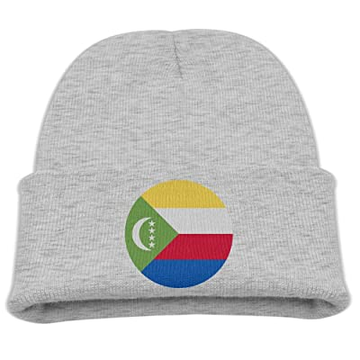 OQHO12 Comoros Kids Hat Warm Soft Fashion Cute Knitted Cap for Autumn Winter