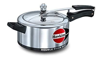 Hawkins Ekobase Aluminum Pressure Cooker, 3.5 Litres