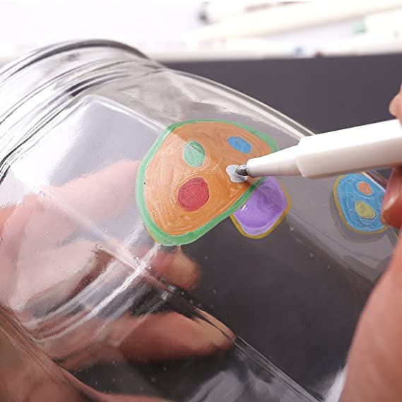 PuTwo Metallic marker pens, 10 Colours marker pens, scrapbook pens for  black paper, scrapbook accessories, metallic paint pens, pens for photo  album,