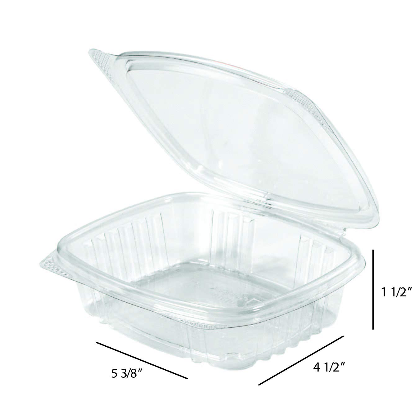 chose amount-20 50 or 100 Plastic 12oz Clear Hinged Deli Container
