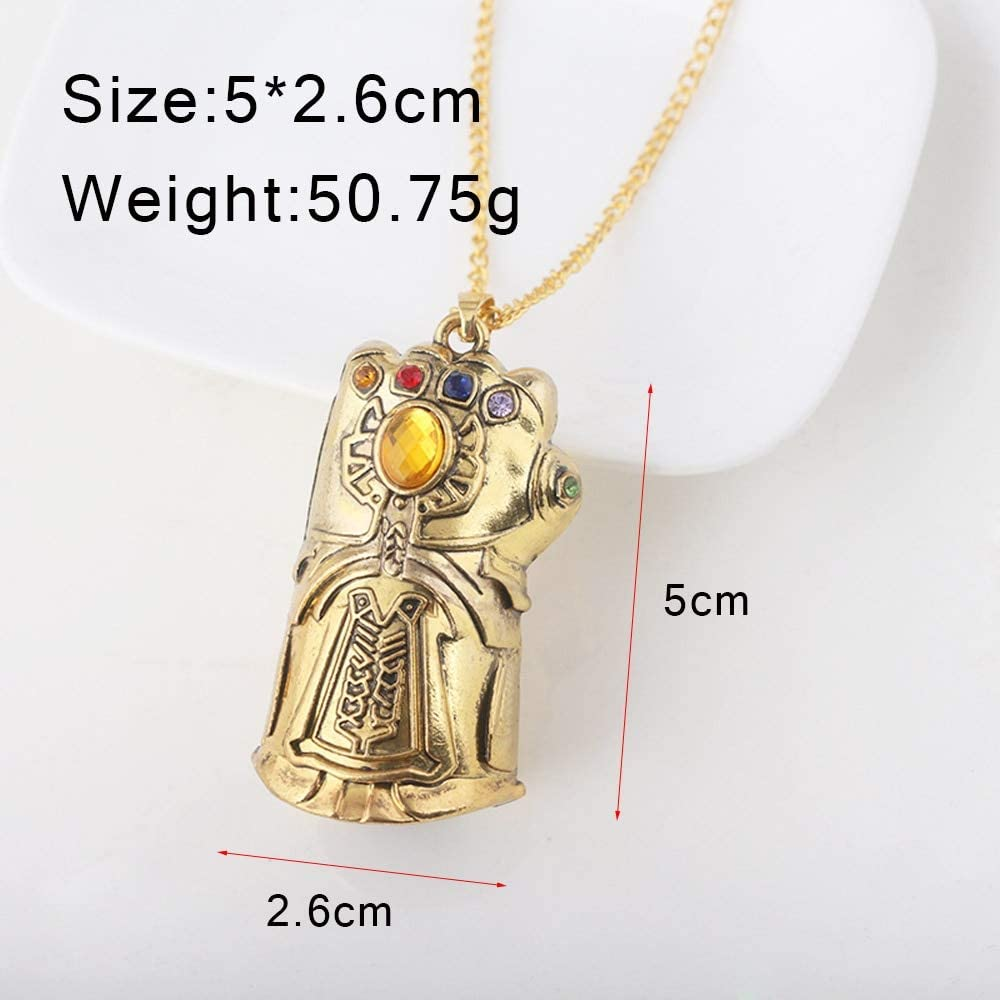 Rj Avengers 3 Necklaces Gauntlet Pendants Cosplay Men Keyring