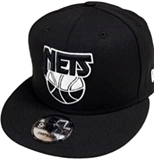 New Era New Jersey Nets HWC Logo Black White 9fifty Snapback Cap Limited  Edition a5571bb96cfe