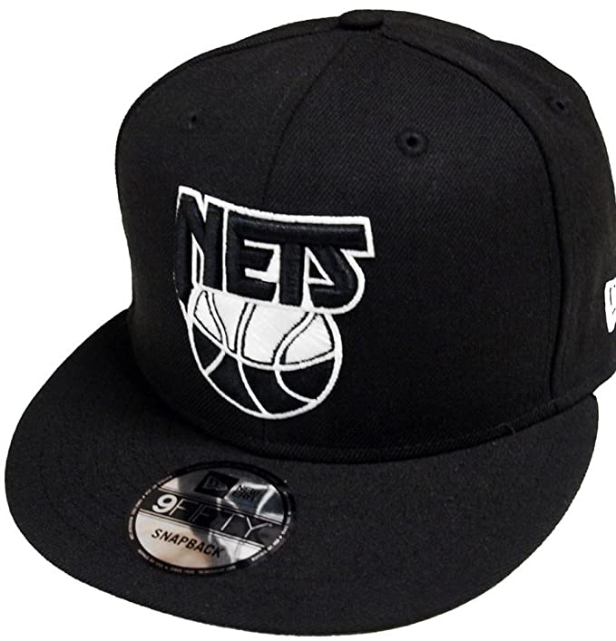 best cheap f95dc 3a8c5 Image Unavailable. Image not available for. Colour  New Era New Jersey Nets  HWC Logo Black White 9fifty Snapback Cap Limited Edition