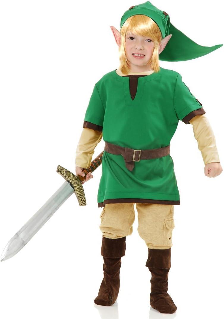 MyPartyShirt Link Elf Warrior Boys Costume -Boys L (10-12): Amazon ...