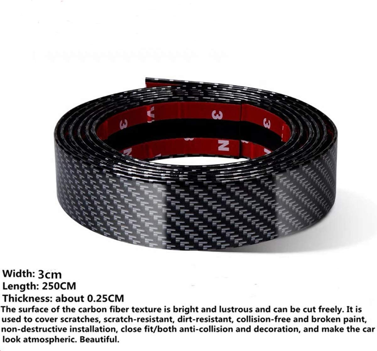 Black Car Door Edge Side Protector Anti Scratch Bump Strip 32Ft Rubber Newly