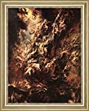 "The Fall of the Damned by Peter Paul Rubens - 21"" x 26"" Framed Premium Canvas Print"
