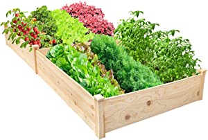 Raised Garden Bed 8x4FT Outdoor Planter Box Wooden Garden Bed for Vegetables Herb Grow,Yard Gardening