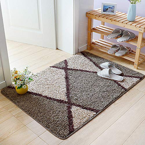 ASDFGH Super Soft Absorbent Entrance Door Mat Shag Rugs, Non-Slip Wear-Resistant Bedroom Carpet Area Rugs Bath Doormat Washable-f 100x120cm(39x47inch)