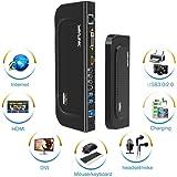 Wavlink USB 3.0 Universal Docking Station Dual Video Monitor Display DVI HDMI VGA Gigabit Ethernet, Audio, 6 USB Ports…