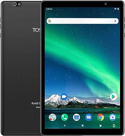 Amazon.com: Tableta de 10 pulgadas 5G WiFi -Toshido P20 Android 10.0, 1920 x 1200 HD IPS, Octa-Core, 3 GB RAM, 64 GB ROM, cámara de 13 M y 5 M, Bluetooth 5.0, GPS, cuerpo de metal, 6000 mAh de largo en espera, tipo C, color negro: Computers & Accessories