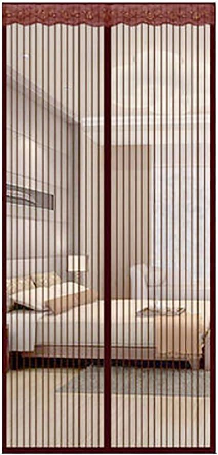 Q&F Puerta De Pantalla Magnética,Cortinas para Puertas De Malla,Puertas Correderas,Garaje,Pesca En Barco-Super Tranquilo,Manos Libres-Deje Aire Fresco En-Vino Tinto 85x230cm(33x91inch): Amazon.es: Hogar