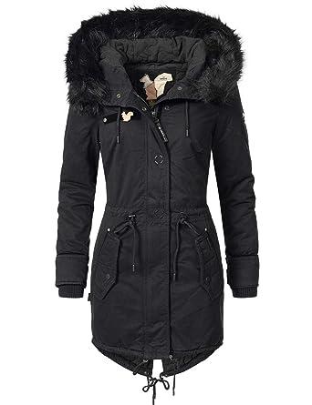 Khujo Damen Mantel Wintermantel Winterparka YM-Dorota 4 Farben + Camouflage  XS-XXL  Amazon.de  Bekleidung ac95752a61
