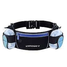 URPOWER Running Belt Multifunctional Zipper Pockets Water Resistant Waist Bag