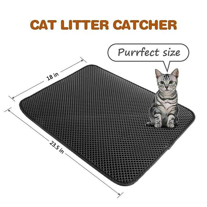 Uokoki Mat Cat Litter Impermeables Capas de Nido de Abeja Tamizar cojín de EVA de Doble Perro Estera del Animal doméstico de la litera Trapper: Amazon.es: ...