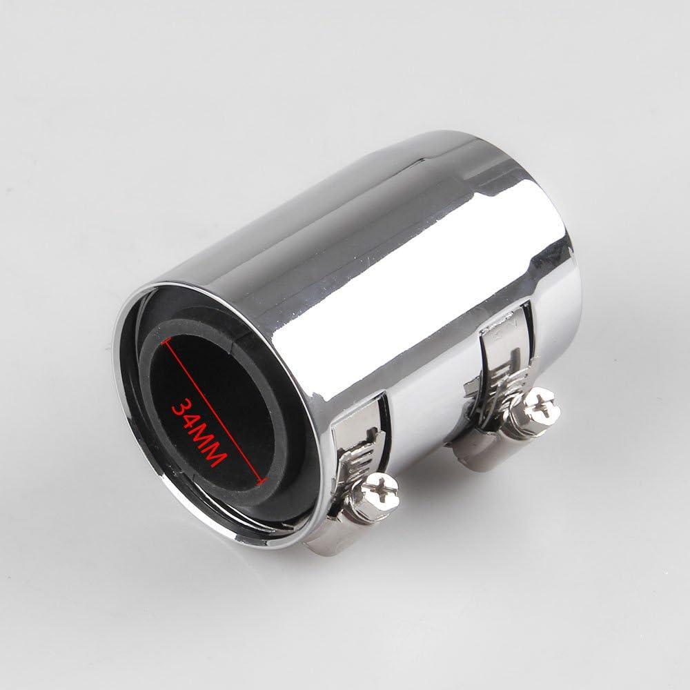 RONSHIN Auto Accessories 24 Flexible Upper Lower Radiator Hose Kit /& Stainless Steel Chrome Caps V8